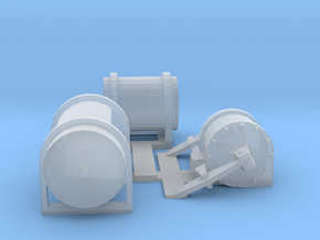 Boxcab Brake Cylinder and Air Tanks in Smooth Fine Detail Plastic