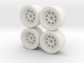 ford rs200 wheels 1/64 hotwheels matchbox x4 in White Natural Versatile Plastic