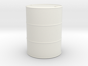 1/13.3 (45mm) scale Oil Barrel in White Natural Versatile Plastic