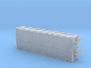 Trash Gondola Double Stack 48foot - Zscale in Smooth Fine Detail Plastic
