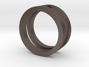 giulia3 in Polished Bronzed-Silver Steel