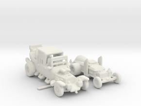 Munster Koach Dragula white plastic only 160 Scale in White Natural Versatile Plastic