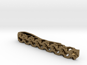 Gyroid Tie Bar in Natural Bronze