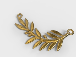 Olive Branch Pendant  in 18k Gold Plated Brass