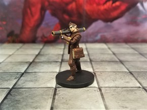 Elf Male Artificer aiming Shoulder Cannon in Smooth Fine Detail Plastic