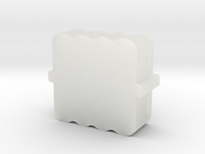 MysteryObjBoxBottom006 in Smooth Fine Detail Plastic