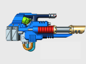 Underslung Laser Cannon in Smooth Fine Detail Plastic: Extra Small