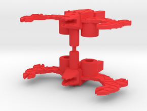 Acro Bat in Red Processed Versatile Plastic: Medium