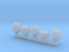 5 pumpkins in Smoothest Fine Detail Plastic