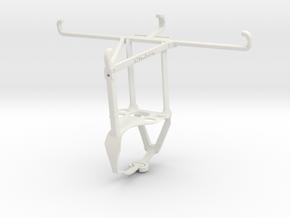 Controller mount for F710 & TECNO Phantom 9 - Top in White Natural Versatile Plastic