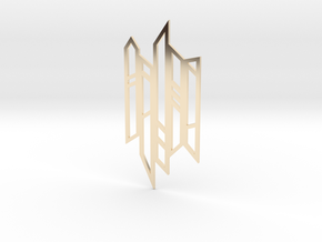 Abstract Fence Pendant in 14K Yellow Gold