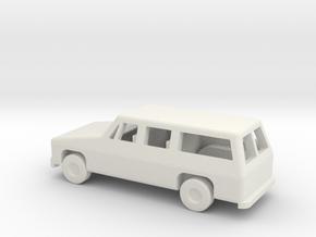 1/144 Scale Suburban in White Natural Versatile Plastic