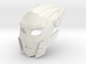 Toa Sameri's Kanohi Mask of Adaptation in White Premium Versatile Plastic