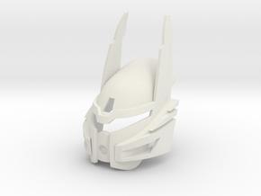 Bionicle Heroes style Kanohi Ignika in White Premium Versatile Plastic