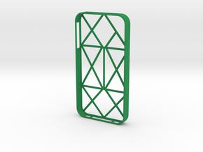 iPhone 4/4s multiline case in Green Processed Versatile Plastic