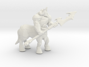 Armored Centaur DnD miniature fantasy games rpg in White Natural Versatile Plastic