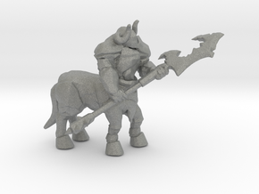 Armored Centaur DnD miniature fantasy games rpg in Gray PA12