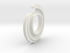 Inner Cable Anchor Ring in White Natural Versatile Plastic
