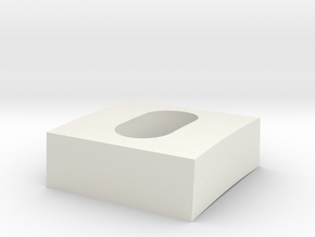 Throttle Stopper Block in White Natural Versatile Plastic
