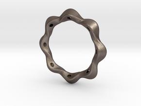 Twist bracelet 80 steel in Polished Bronzed Silver Steel