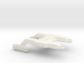 3788 Scale Lyran Local Defense Cruiser (LCA) CVN in White Natural Versatile Plastic