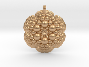 Fractal Pendant in Natural Bronze