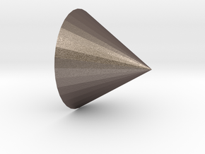 cone in Polished Bronzed Silver Steel