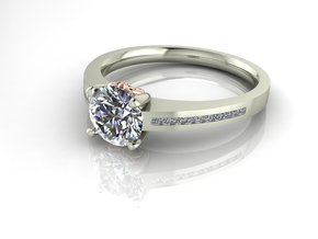 Classic Solitaire 29 NO STONES SUPPLIED in Fine Detail Polished Silver