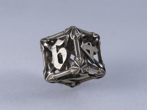 Iron Warden - D6 in Polished Bronzed-Silver Steel