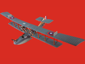 """Curtiss H.12 """"Large America"""" in White Natural Versatile Plastic: 1:144"""