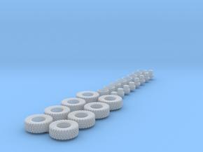 H0 1:87 Reifen 365/85 R20 für 8x8 in Smooth Fine Detail Plastic