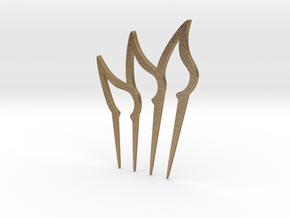 Leaves Hair Comb in Polished Gold Steel