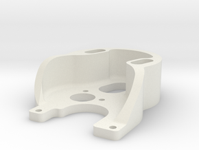 Axial SCX24 Deadbolt 370 motor mount. in White Natural Versatile Plastic