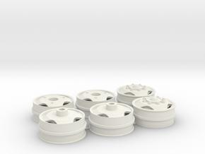 Set velgen met driehoek gat 40x16mm met zeskant in White Natural Versatile Plastic