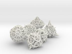 Thorn Dice Set in White Natural Versatile Plastic