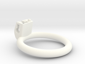 Cherry Keeper Ring - 48mm Flat +5° in White Processed Versatile Plastic