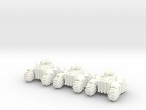 6mm - Light Tank in White Processed Versatile Plastic