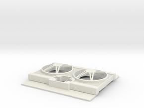 MH - Radiator in White Natural Versatile Plastic