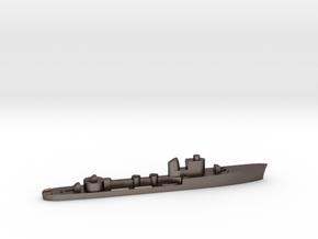Italian Polluce torpedo boat 1:2400 WW2 in Polished Bronzed-Silver Steel