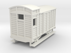 o-re-87-eskdale-brake-van in White Natural Versatile Plastic