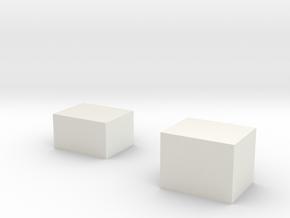 Two box test in White Natural Versatile Plastic