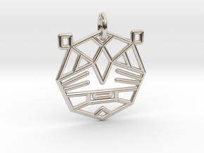 TIGER WARRIOR Pendant in Rhodium Plated Brass