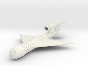 (1:144 fictional) Super V-1 w/ Delta wing in White Natural Versatile Plastic