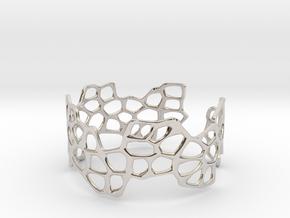 Cells Bracelet (open, 64mm) in Platinum