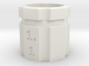 dop-draaier-insert-pipet-hex in White Natural Versatile Plastic