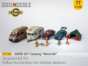 "SUPER SET Camping ""Waterfall"" (TT 1:120) in Smooth Fine Detail Plastic"