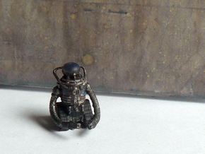 28mm Wastefall cyber brain robot in Smooth Fine Detail Plastic