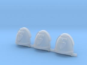 Sword on Shield Gravus Shoulder Pads x3 R in Smooth Fine Detail Plastic