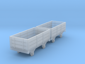 o-re-148fs-eskdale-3-plank-wagons in Smooth Fine Detail Plastic
