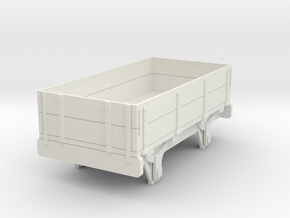 0-re-43-eskdale-2-plank-wagon in White Natural Versatile Plastic
